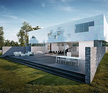 Geometric Square Villa On Germany