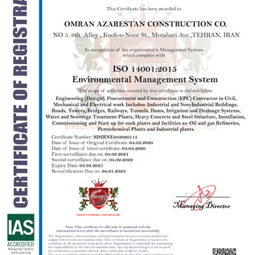 Environmental Management System -ISO 14001:2015
