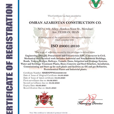 Industry, Oil and Gas Quality Control Management System-ISO/TS 29001:2010