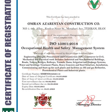 Health and Safety Management System- ISO 45001:2018